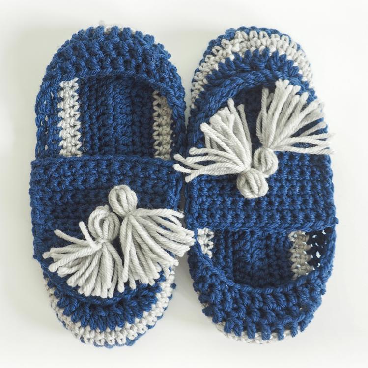 """Tassel Slip On Slippers, length 9"""", Width 4""""-slippers2-jpg"""