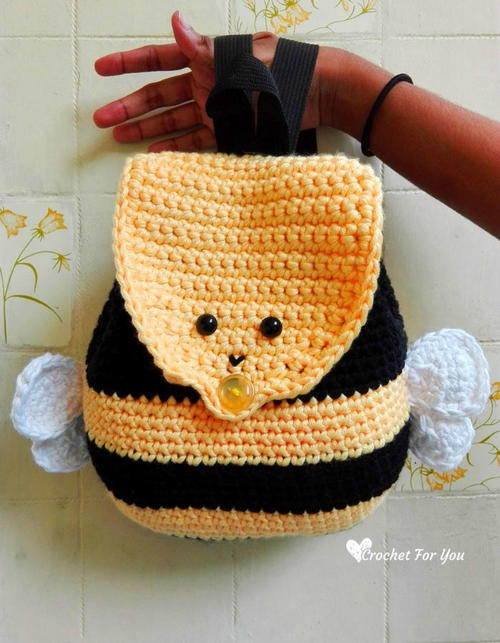 Bumble Bee Backpack Bag Free Crochet Pattern (English)-bumble-bee-backpack-bag-free-crochet-pattern-jpg