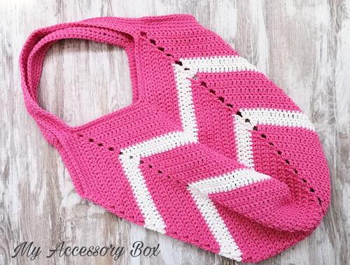 Chevron Hand Bag Free Crochet Pattern (English)-chevron-hand-bag-free-crochet-pattern-jpg