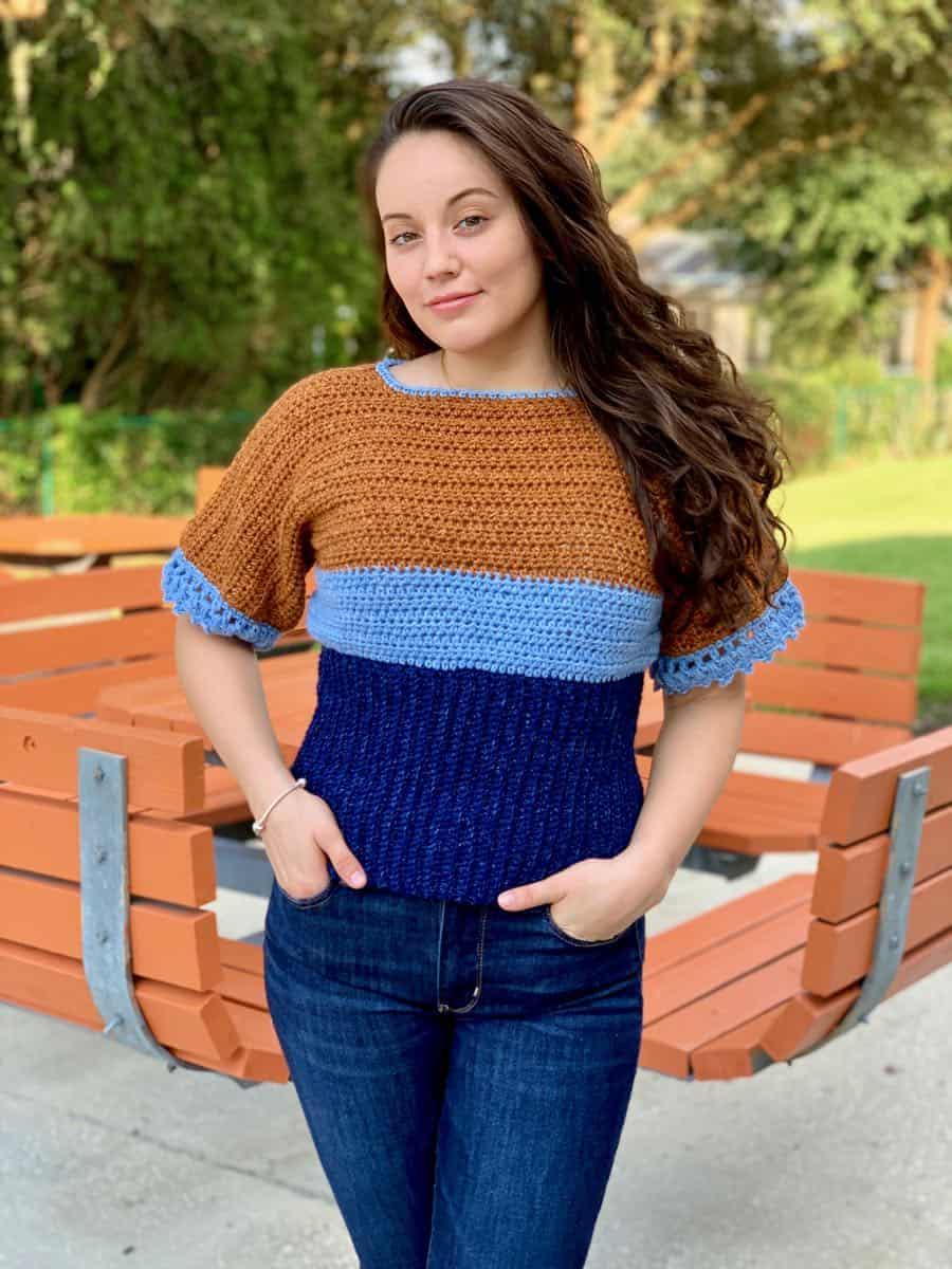 Color Block T-Top for Women, S-XL-top2-jpg