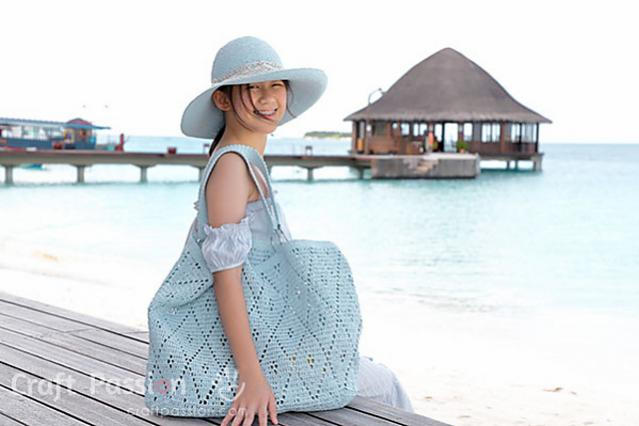 Diamond Stitch Oversized Tote and Matching Hat for Women-bag2-jpg