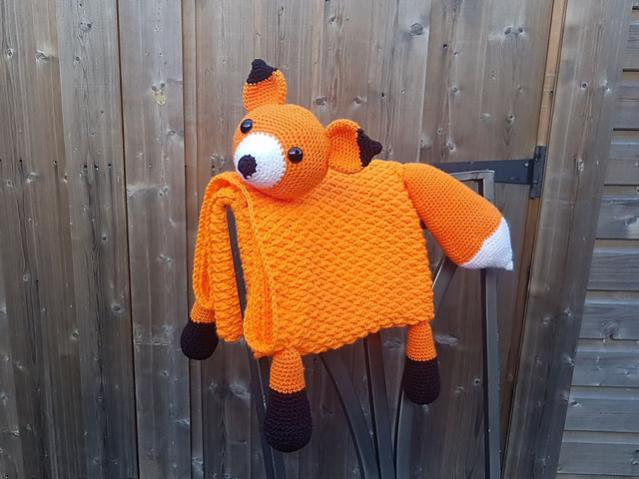 Woodland Fox Baby Blanket-baby-jpg