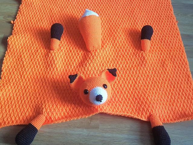 Woodland Fox Baby Blanket-baby1-jpg