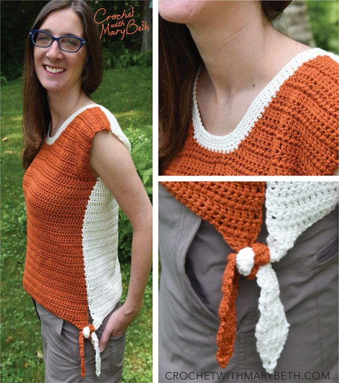 Two Tone Tee with Ties. S-XL-p8_free_crochet_pattern_2tonetee_topcollage-jpg