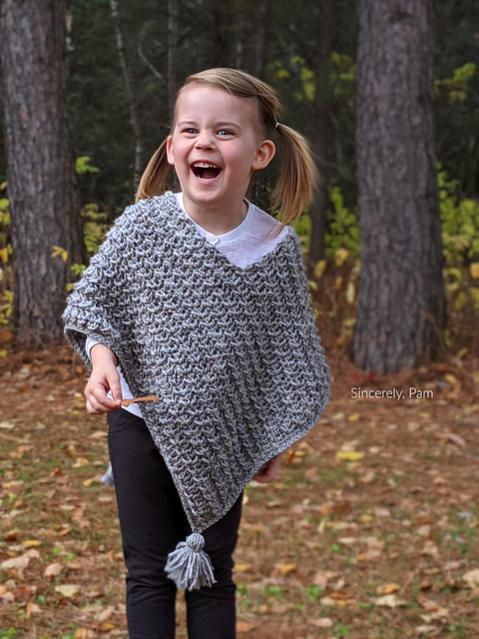 Ragged Falls Poncho for children, 2-12, Women XS-5X-poncho1-jpg