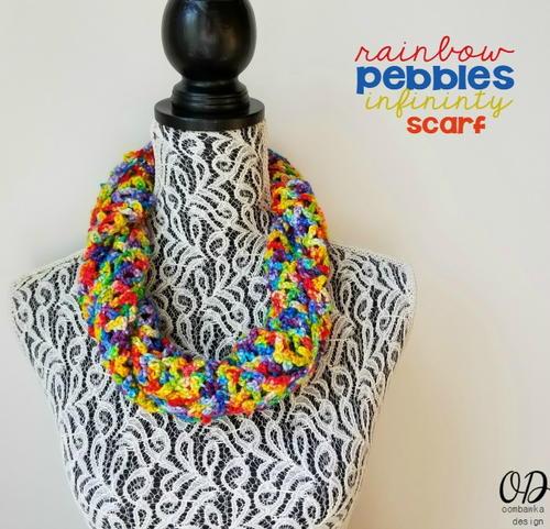 Rainbow Pebbles Infinity Scarf Free Crochet Pattern (English)-rainbow-pebbles-infinity-scarf-free-crochet-pattern-jpg