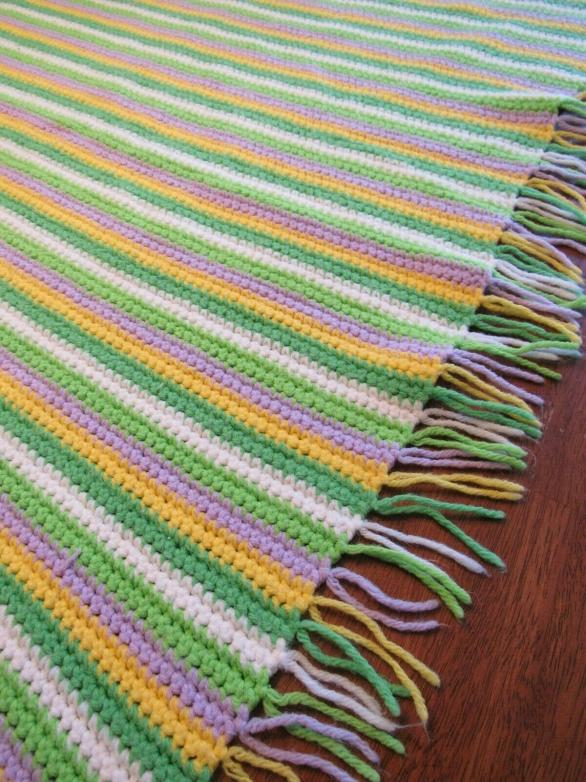 """""""SAND PIPER""""  The perfect little beach blanket.  Available at GrannyBlankets.com-vintage-afghan-blanket-jpg"""