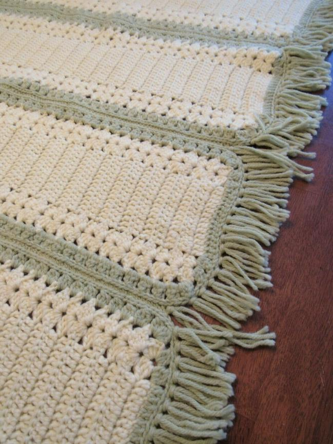 """""""CANARY STRIPE""""  Canary yellow and light green.  Available at GrannyBlankets.com-yellow-afghan-blankets-sale-jpg"""