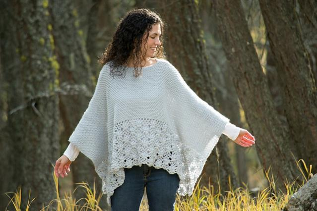 Frosted Petals Poncho for Women, S-5X-poncho2-jpg