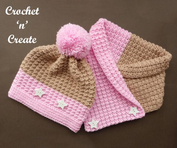 Warm Neapolitan Set (hat and cowl)-set1-jpg