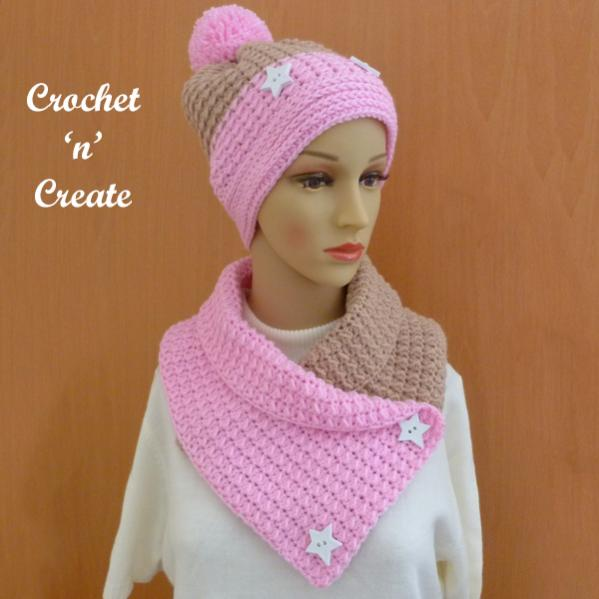 Warm Neapolitan Set (hat and cowl)-set3-jpg