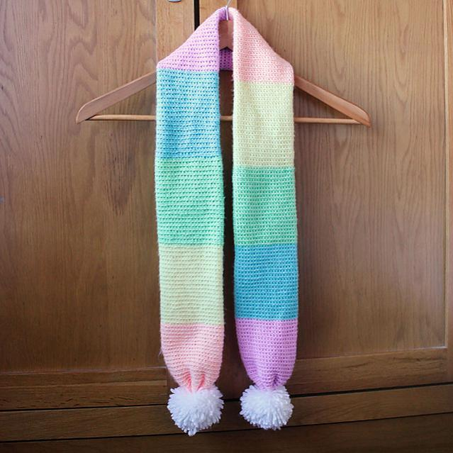 Color Block Rainbow Scarf for Child and Adult-block2-jpg