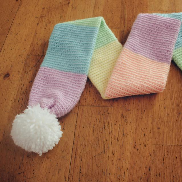 Color Block Rainbow Scarf for Child and Adult-block4-jpg
