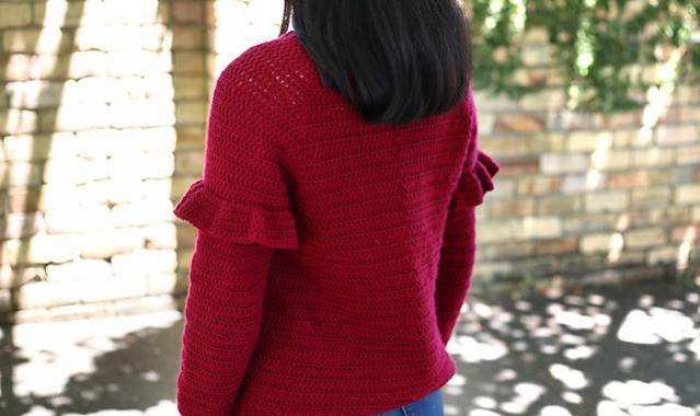 Holly Berry Ruffle Sweater for Women, XS-3XL-sweater2-jpg