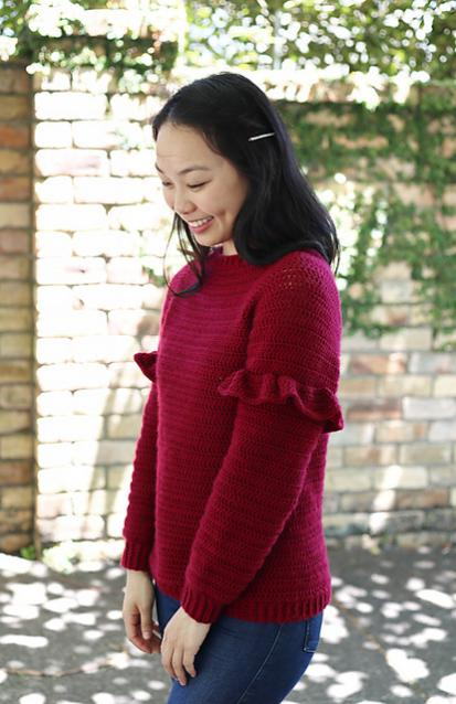 Holly Berry Ruffle Sweater for Women, XS-3XL-sweater3-jpg