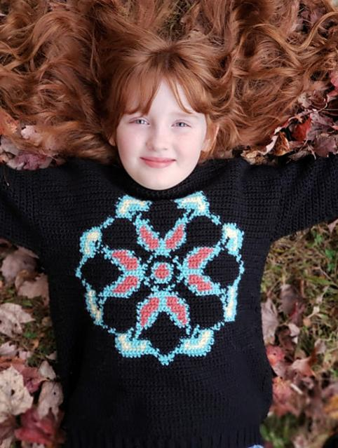 Mandala Pullover for Women and Children, size is fully customizable-pullover4-jpg