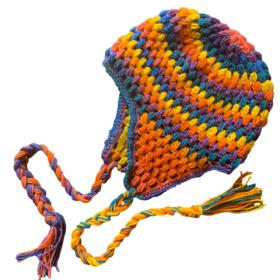 """Puff Stitch Earflap Hat for Children 17""""-19"""" and Adults 20""""-22""""-hat1-jpg"""