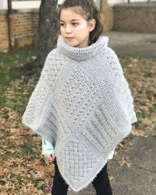 Square Sampler Poncho for Women and Children-poncho3-jpg