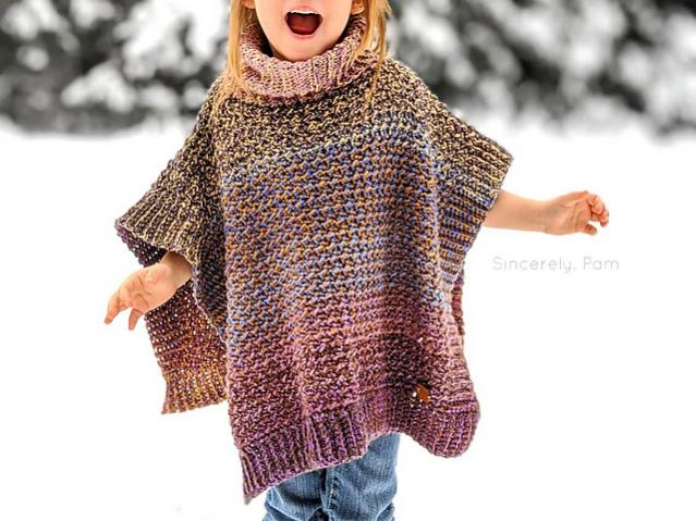 Lucky Penny Poncho for Children, 3-12 yrs-poncho1-jpg