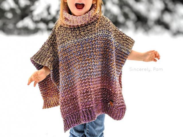 Lucky Penny Poncho for Children, 3-12 yrs-poncho1-jpg