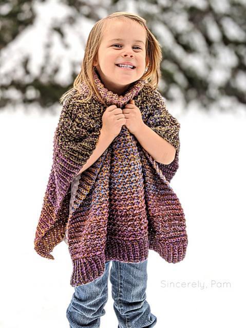 Lucky Penny Poncho for Children, 3-12 yrs-poncho3-jpg