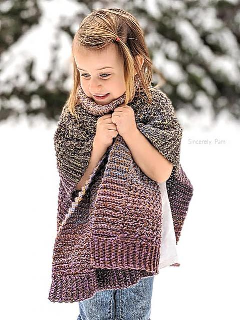 Lucky Penny Poncho for Children, 3-12 yrs-poncho4-jpg
