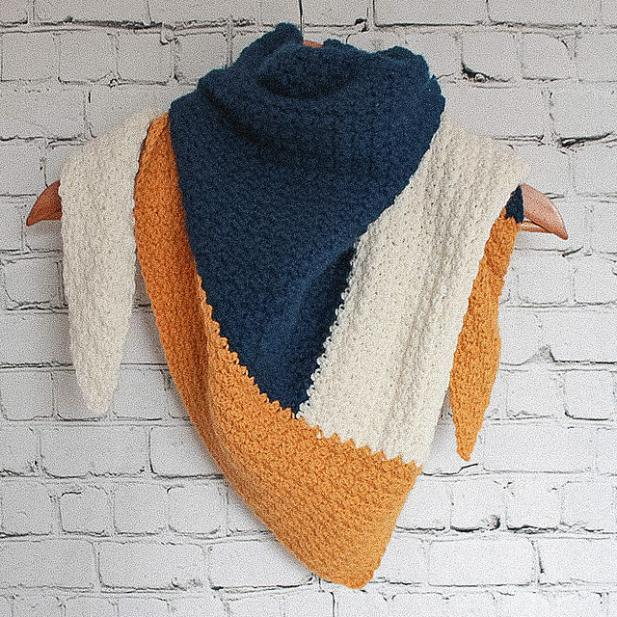 Color Block Triangle Scarf for Women-block1-jpg