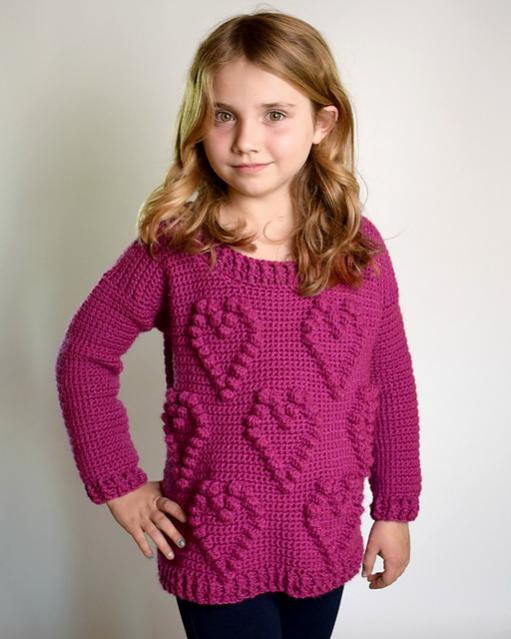 Sweetheart Sweater for Girls, size 5-12-sweater1-jpg