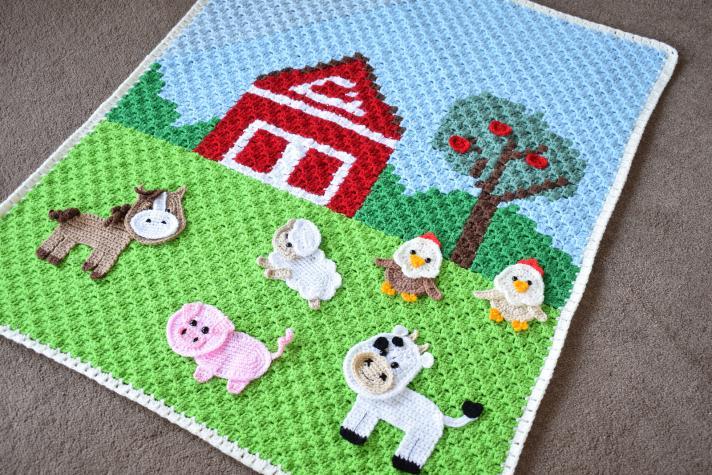 Farm Animal Baby Blanket-animal1-jpg