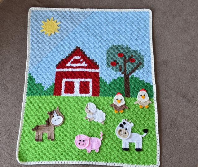 Farm Animal Baby Blanket-animal2-jpg