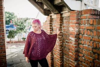 Trapped in Love Poncho for Women-love1-jpg