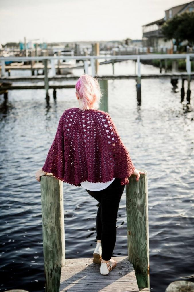 Trapped in Love Poncho for Women-love5-jpg