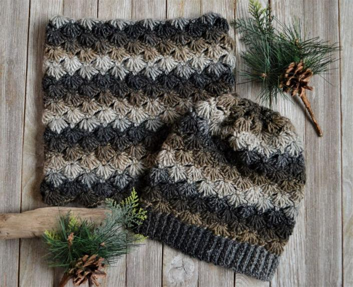 West Coast Winter Hat and Cowl for Women-cowl1-jpg