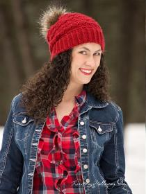 Cranberry Twist Hat and Scarf for Women-hat1-jpg