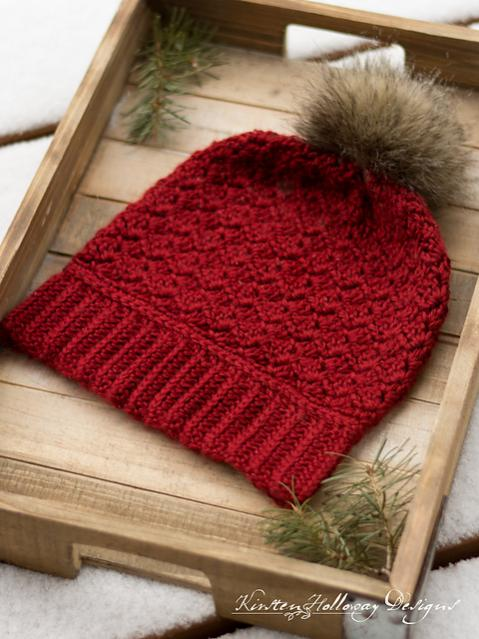 Cranberry Twist Hat and Scarf for Women-hat2-jpg