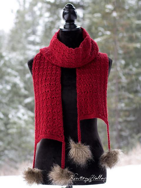 Cranberry Twist Hat and Scarf for Women-scarf1-jpg