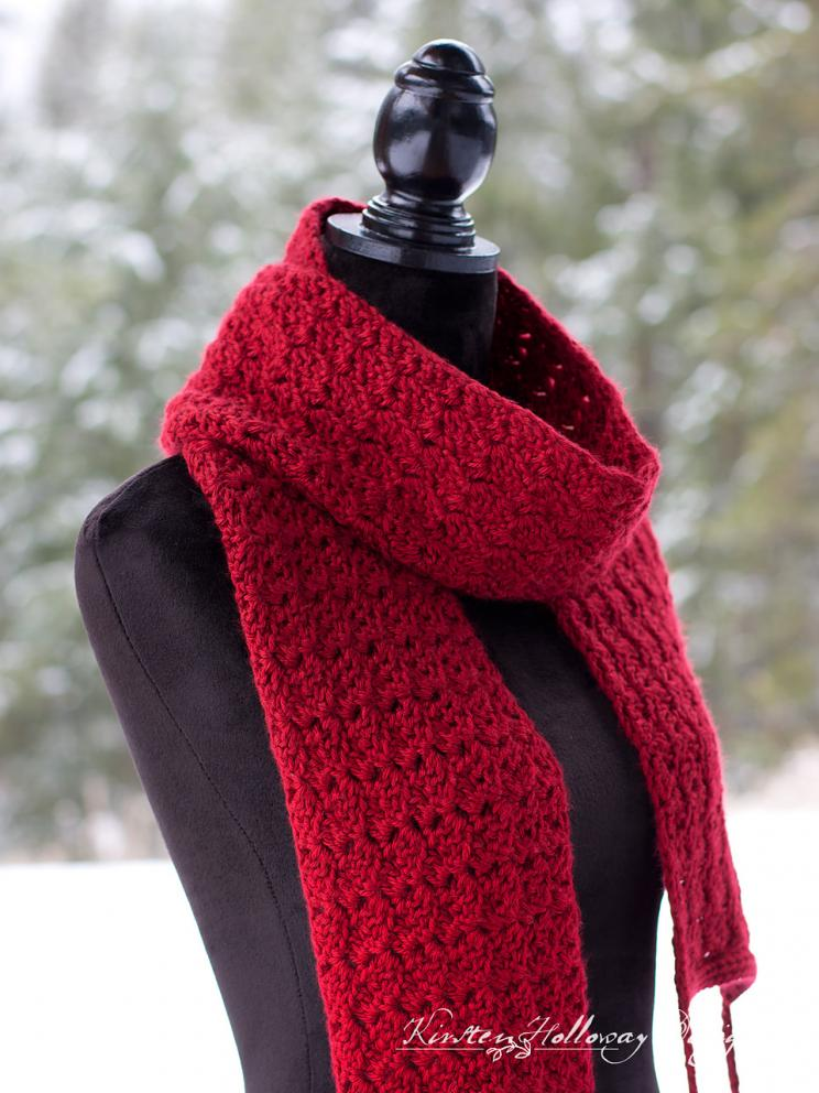Cranberry Twist Hat and Scarf for Women-scarf4-jpg