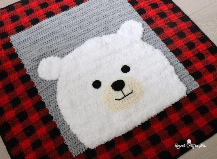 Plaid Polar Bear Blanket-bear3-jpg