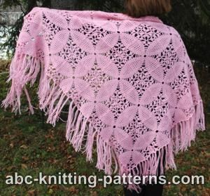 Pink Square Motif Shawl for Women-shawl1-jpg
