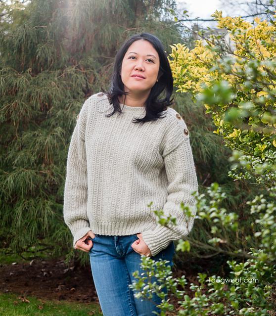 High Line Button Shoulder Sweater for Women, XS-3XL-sweater2-jpg