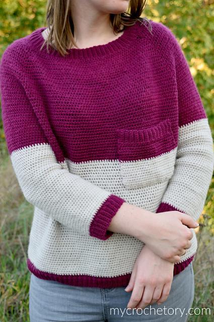 "Pocket Raglan Sweater for Women, 35.5""-50""-sweater1-jpg"
