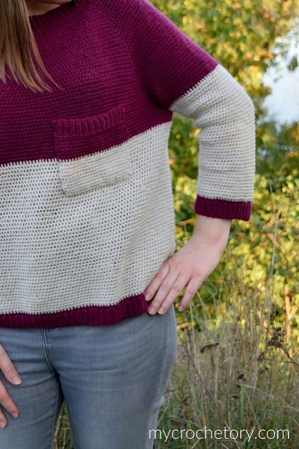 "Pocket Raglan Sweater for Women, 35.5""-50""-sweater2-jpg"