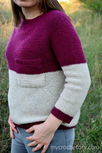 "Pocket Raglan Sweater for Women, 35.5""-50""-sweater3-jpg"