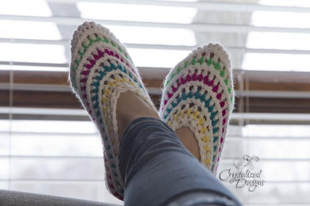 Kaleidoscope Slippers for Women, size 5-12-slippers1-jpg