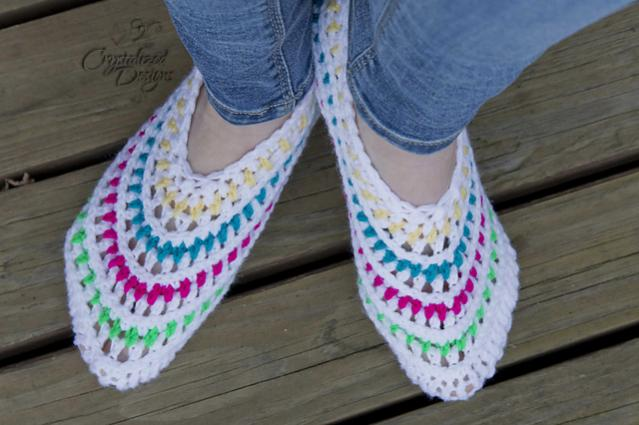 Kaleidoscope Slippers for Women, size 5-12-slippers2-jpg