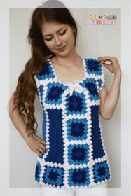 January Blues Afghan Top for Women, M only-top1-jpg