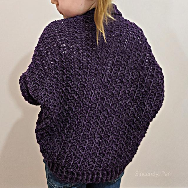 Ragged Falls Cocoon Shrug for Children, 2-12 and Adult, S-5XL-falls4-jpg