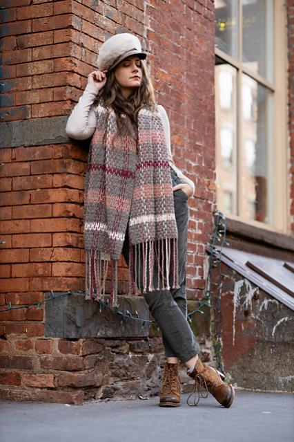 Rosebridge Plaid Blanket Scarf for Women-rose4-jpg