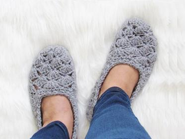 Two Pairs of Cute Slippers from Crochet Dreamz-slippers1-jpg