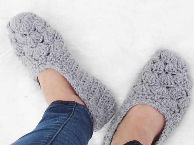 Two Pairs of Cute Slippers from Crochet Dreamz-slippers2-jpg